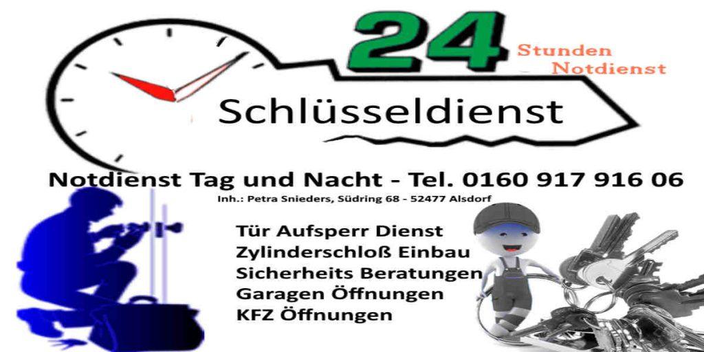 Schlüssel Notdienst Herzogenrath Kohlscheid, Herzogenrath Straß sowie zum Beispiel Schlüsseldienst Merkstein - Tag und Nacht