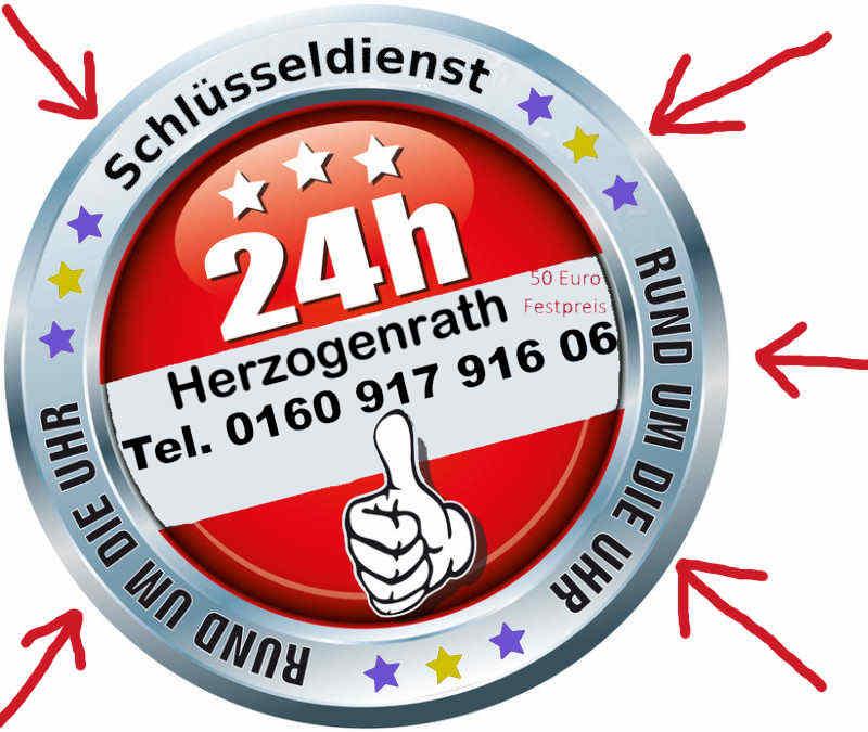 Schlüsseldienst Herzogenrath Merkstein Kohlscheid zum Festpreis - Notdienst Tag und Nacht