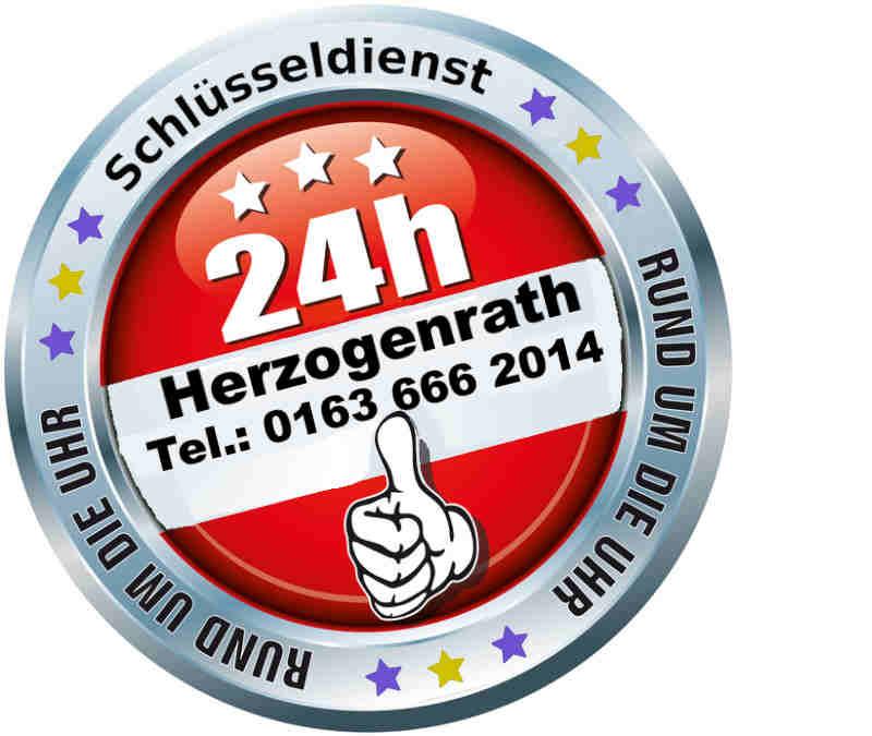 Schlüsseldienst Herzogenrath Firmen Hinweis auf 24 Stunden erreichbarkei