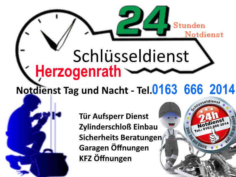 Schlüsseldienst Herzogenrath Merkstein, Herzogenrath Straß sowie zum Beispiel Schlüsseldienst Kohlscheid - Tag und Nacht