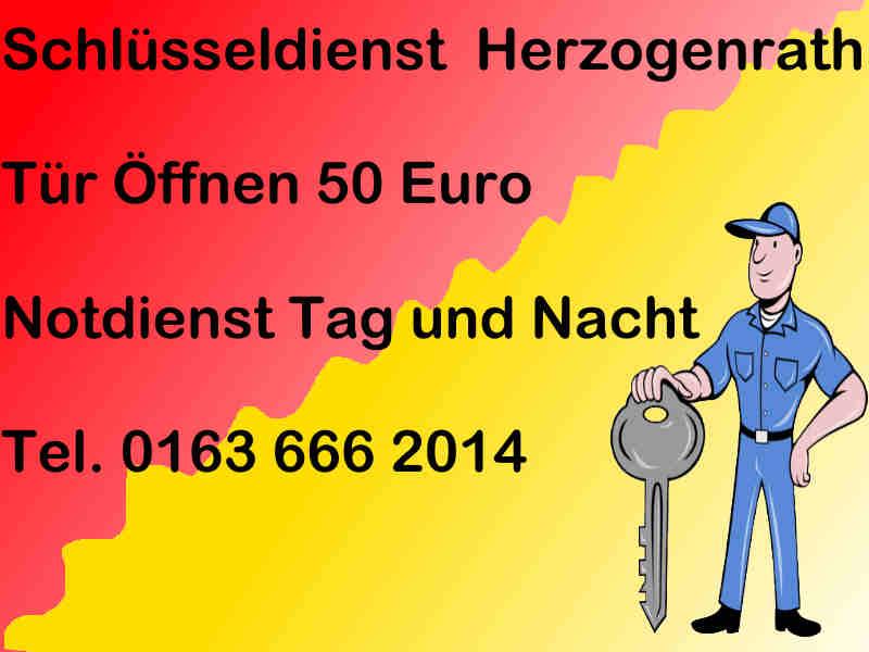 Schlüsseldienst Herzogenrath - Notdienst Monteur Karl - Sofort Hilfe Tag und Nacht